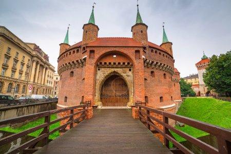 Cracow barbican in Poland