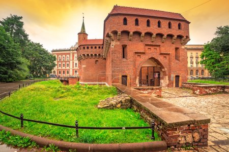 Cracow barbican - medieval fortifcation at city walls