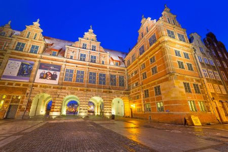 The Green Gate at night in Gdansk