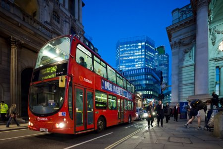 Evening in the City of London