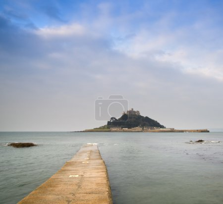 St Michael's Mount Bay Marazion early morning landscape with pat