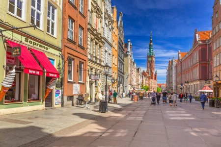 The Long Lane street in old town of Gdansk, Poland