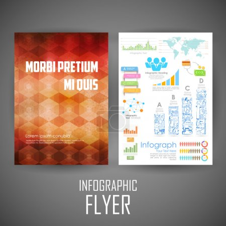Business infographic flyer for presentation