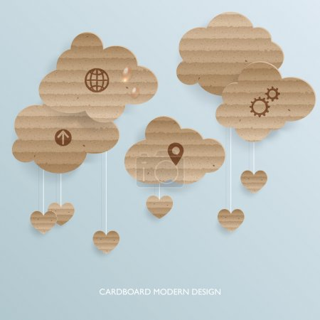 Abstract background with cardboard clouds