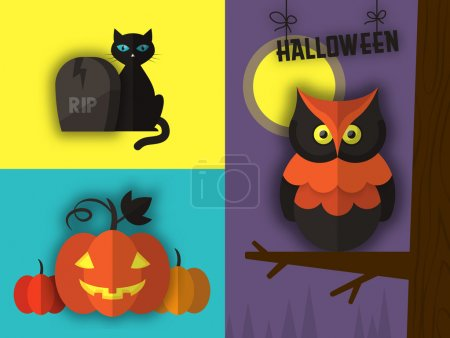Vector illustration for Halloween holiday