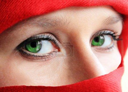 Green eyes ninja