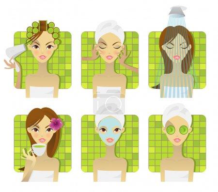 SPA, health and beauty set