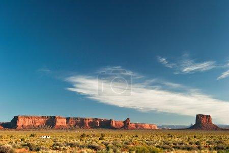 End of sunny day in Monument Valley