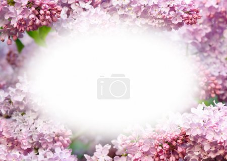 Template design with flowers