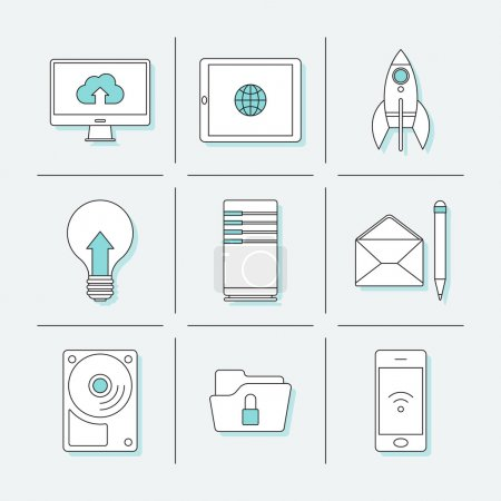 Icons for business computer project